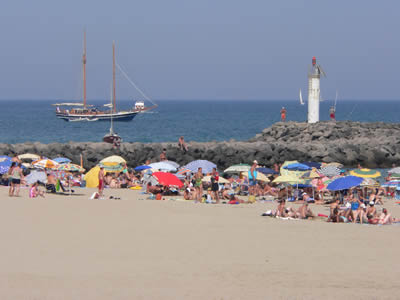 Cap D'Agde is a paradise for beach