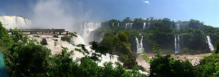 the falls of the Iguazu River