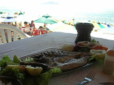 Varied cuisine in Búzios